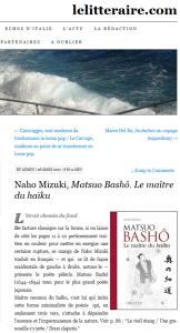 MATSUO BASHO - LELITERRAIRE.COM